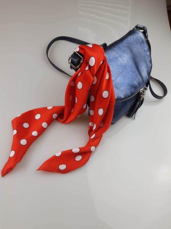 Červená šatka s bielymi bodkami Polka Dot | Apropoyou.sk
