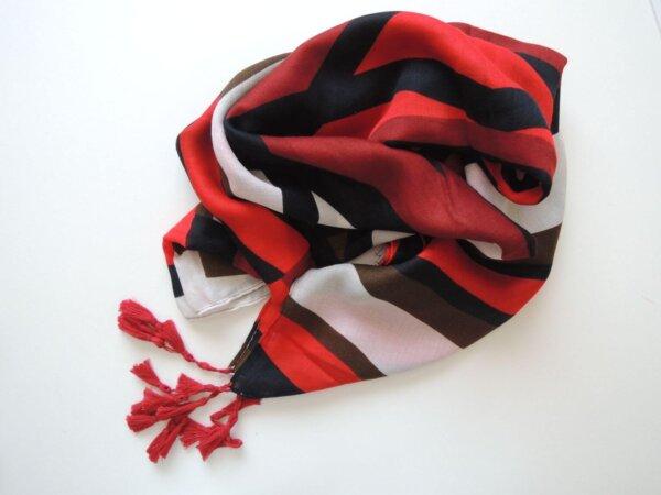 Červeno-čierno-biela šatka Zebra | Apropoyou.sk