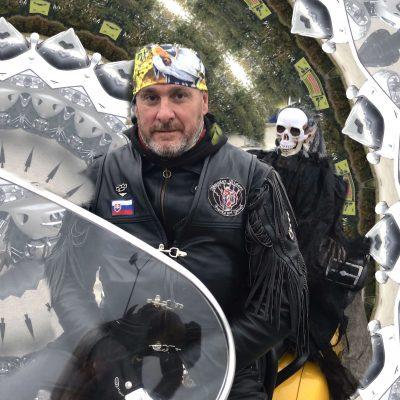 Šatka motorkárska žltá s orlom Yellow Eagle | Apropoyou.sk