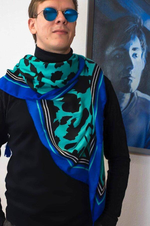 Tigrovaná šatka modrá Šelma color | Apropoyou.sk