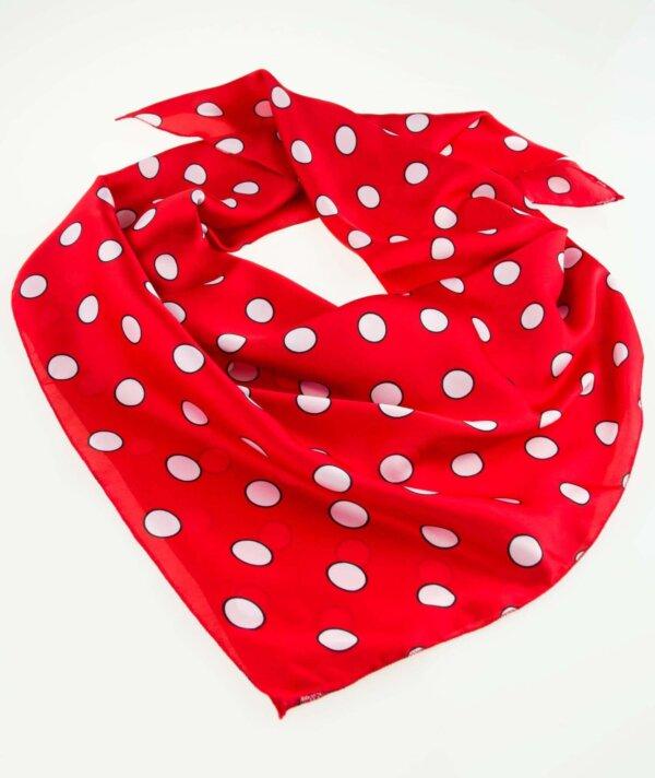 Šatka červená s bielymi bodkami Polka Dot | Apropoyou.sk
