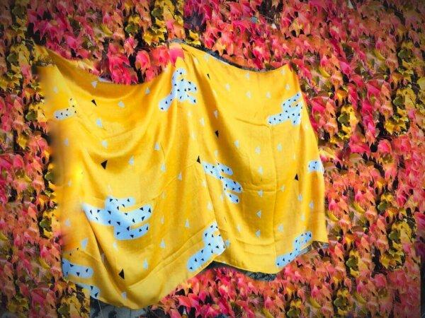 Žltá šatka s kaktusmi | Apropoyou.sk