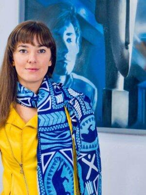 Šatka modrá so vzormi Blue Velvet | Apropoyou.sk