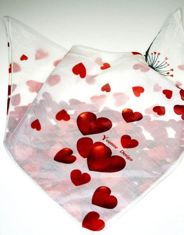 Valentínska šatka Srdcia | ApropoYou.sk