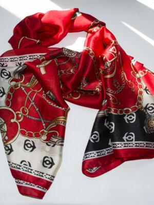 Hodvábna červená šatka